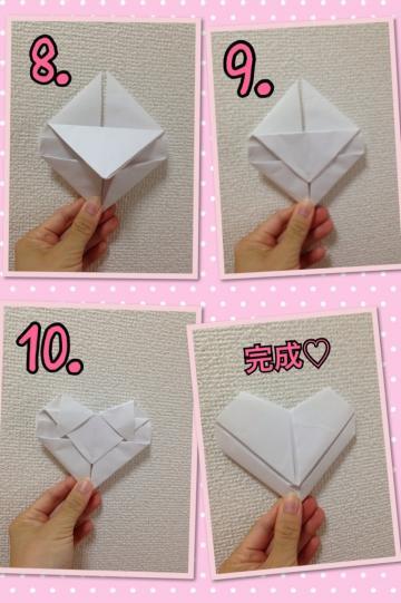 ハート 折り紙:折り紙ハート折り方正方形-blog.zige.jp