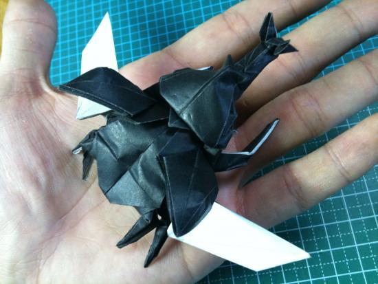 花 折り紙:折り紙 クワガタ 折り方-divulgando.net
