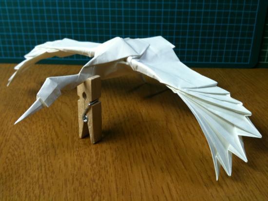 すべての折り紙 カブトムシ 折り紙 折り方 : 26×26cm 不切正方形一枚折)