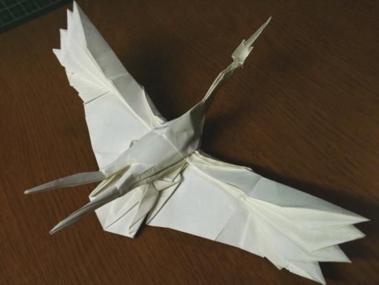 すべての折り紙 上級折り紙 : 鶴 上級者向け折り紙